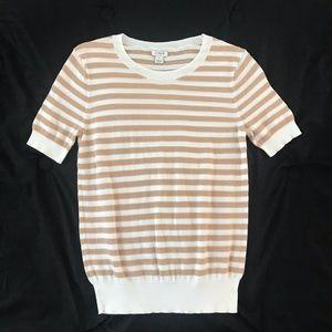 J.Crew Striped Short Sleeve Top
